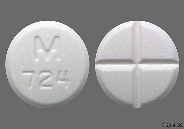 White Round M 724 - Tizanidine Hydrochloride 4mg Tablet