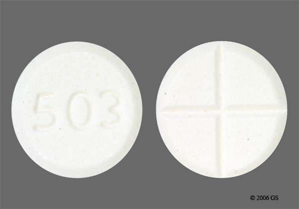White Round 503 - Tizanidine Hydrochloride 4mg Tablet